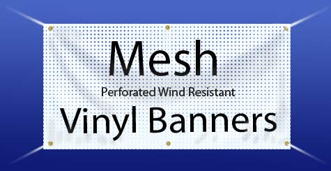 Mesh Banners See Through Perforation Allows Air And Wind